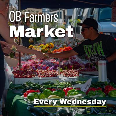 OB Farmers Market Wednesdays Now Open