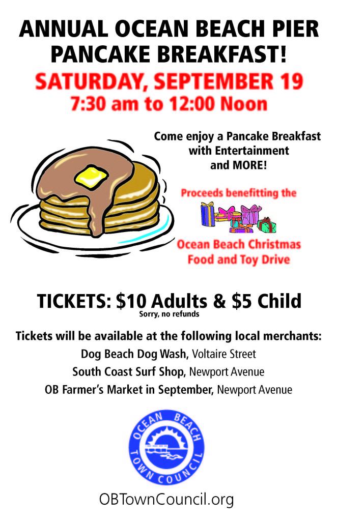 Pier Pancake Breakfast flyer
