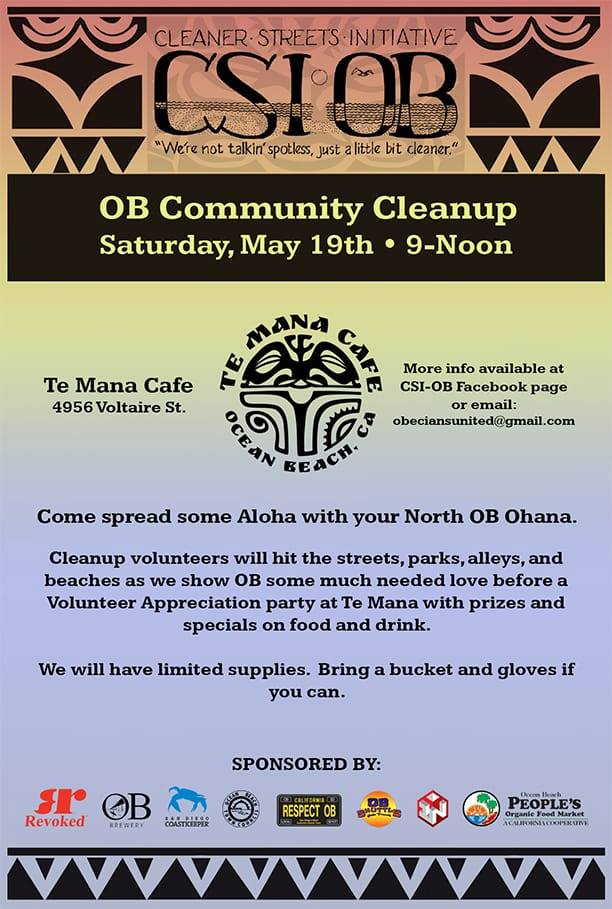 Ocean Beach News Article: CSI-OB Community Cleanup