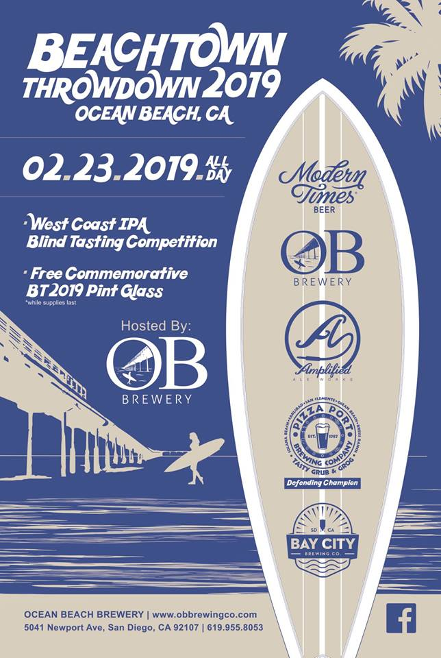 Ocean Beach News Article: Beachtown Throwdown at OB Brewery