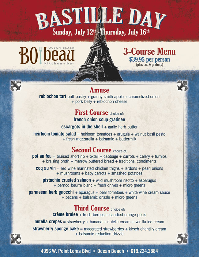 Bastille Day at Bo-Beau Ocean Beach