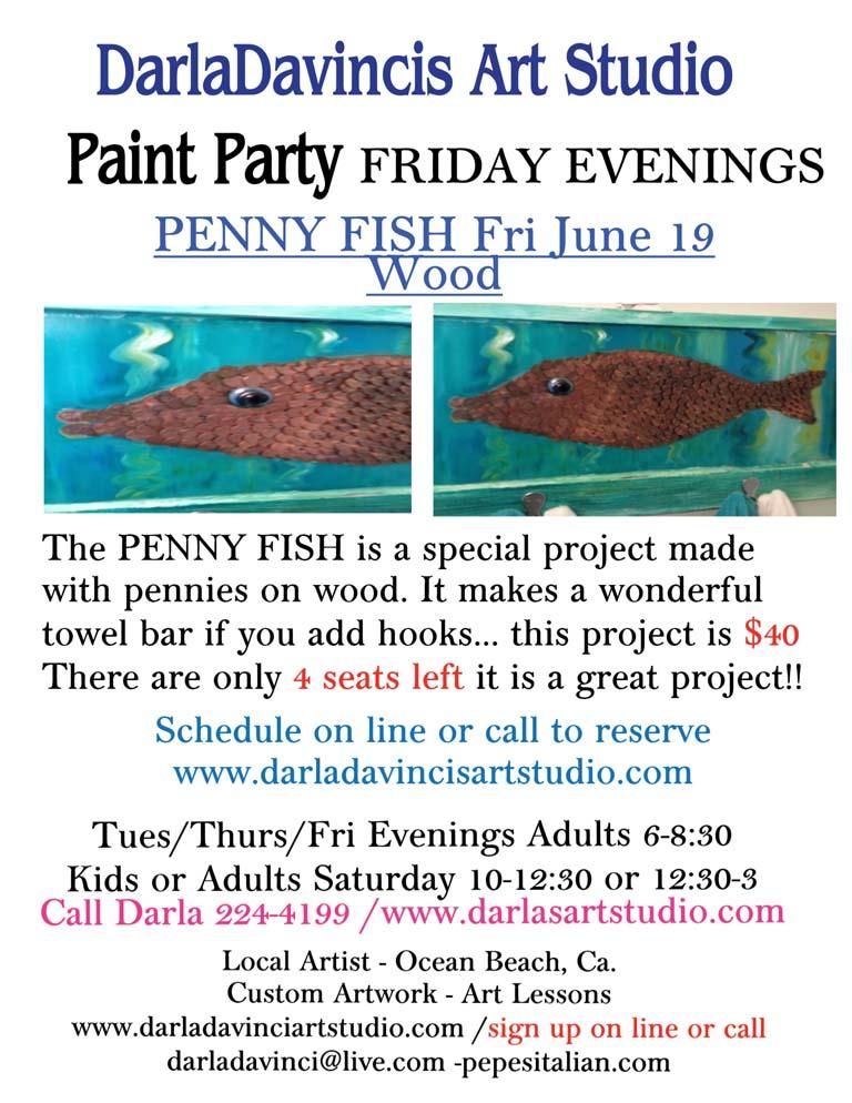 DarlaDavincis Art Studio Penny Fish