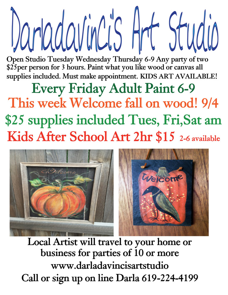 Paint Party at Darla Davinci's Art Studio