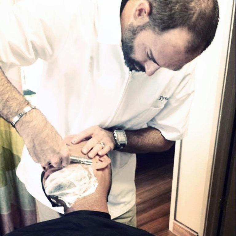 Tyson Pssey Details SalonSpa Ocean Beach Barber Shave