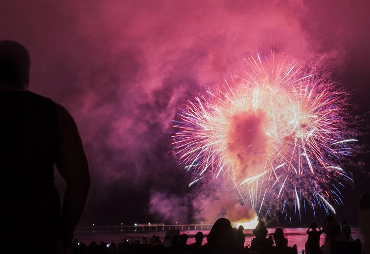 Ocean Beach Fireworks off the OB Pier