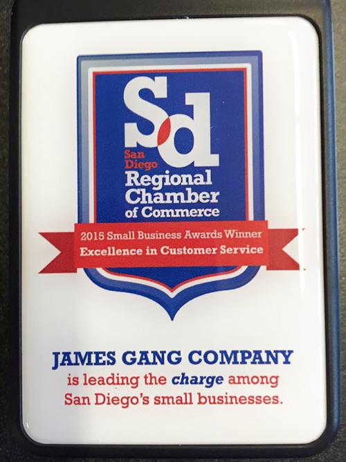 James Gang Company award