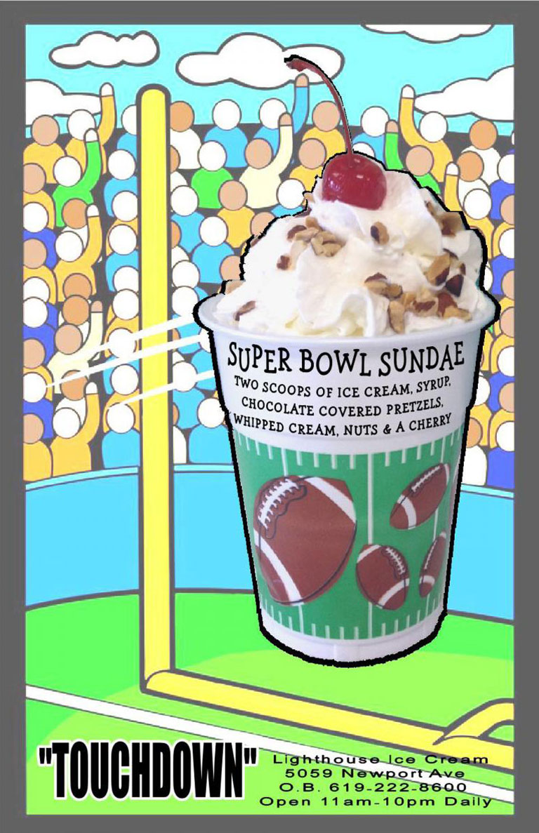 Celebrate the Super Bowl with Lighthouse Ice Cream