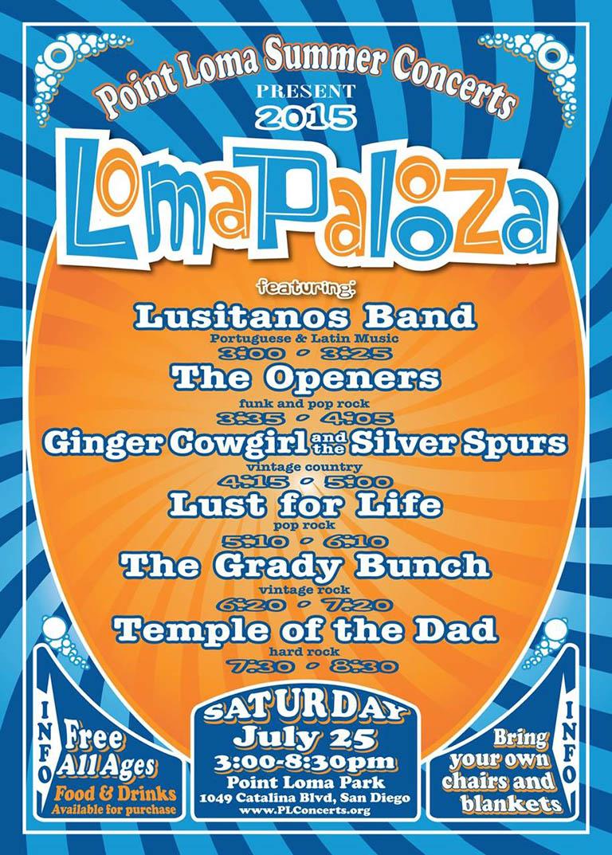 Point Loma Summer Concerts 2015: Lomapalooza