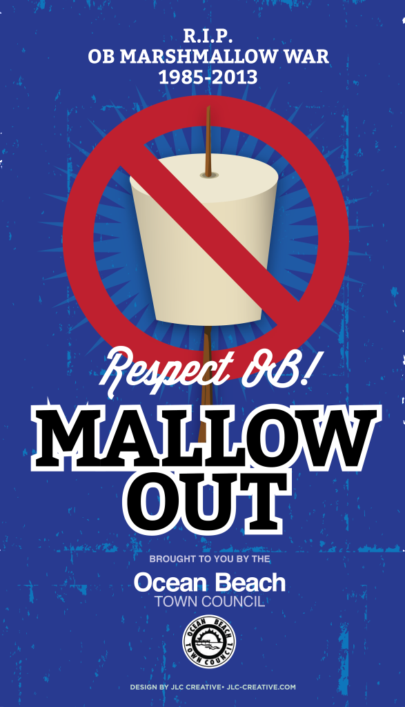 Mallow Out in Ocean Beach July 4, 2015. Ocean Beach Town Council campaign