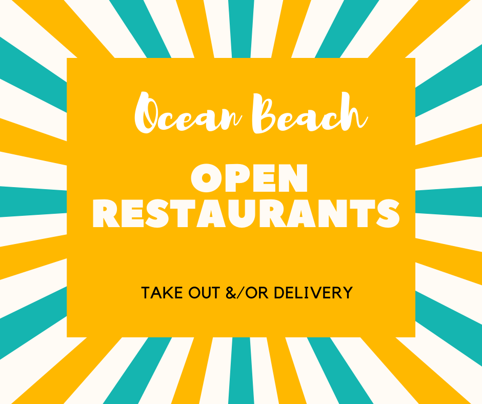 Ocean Beach News Article: OB Restaurants Open for Takeout and/or Delivery