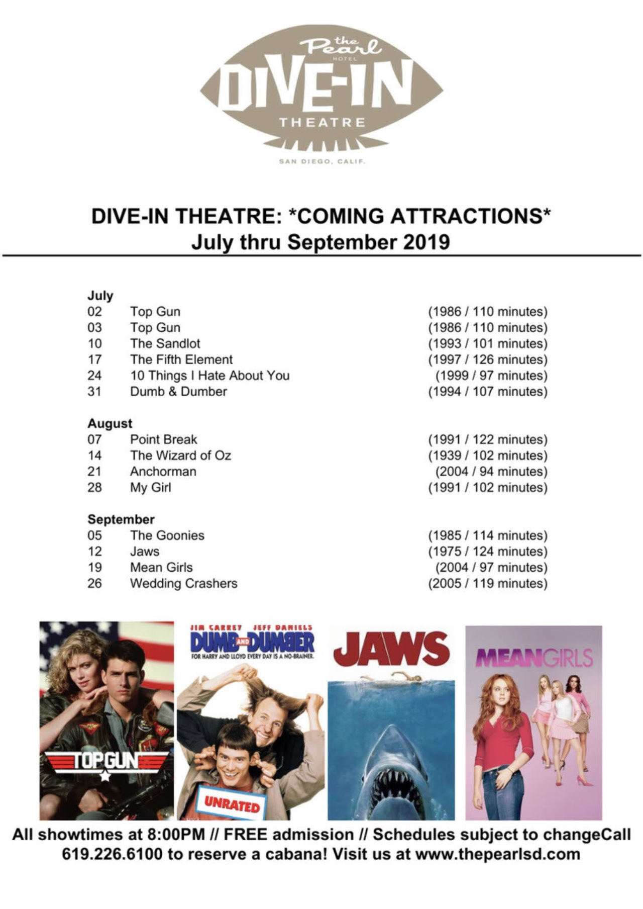 Ocean Beach News Article: Summer Dive-In Movies at the Pearl