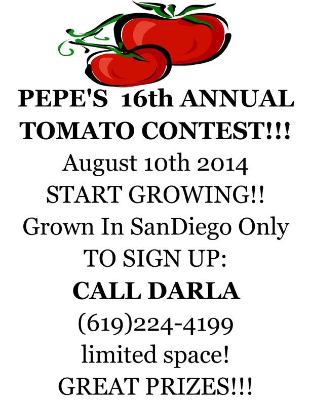 Pepe's Tomato Contest Ocean Beach