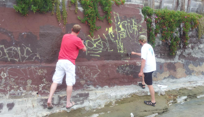 Ocean Beach News Article: Report Graffiti in Ocean Beach