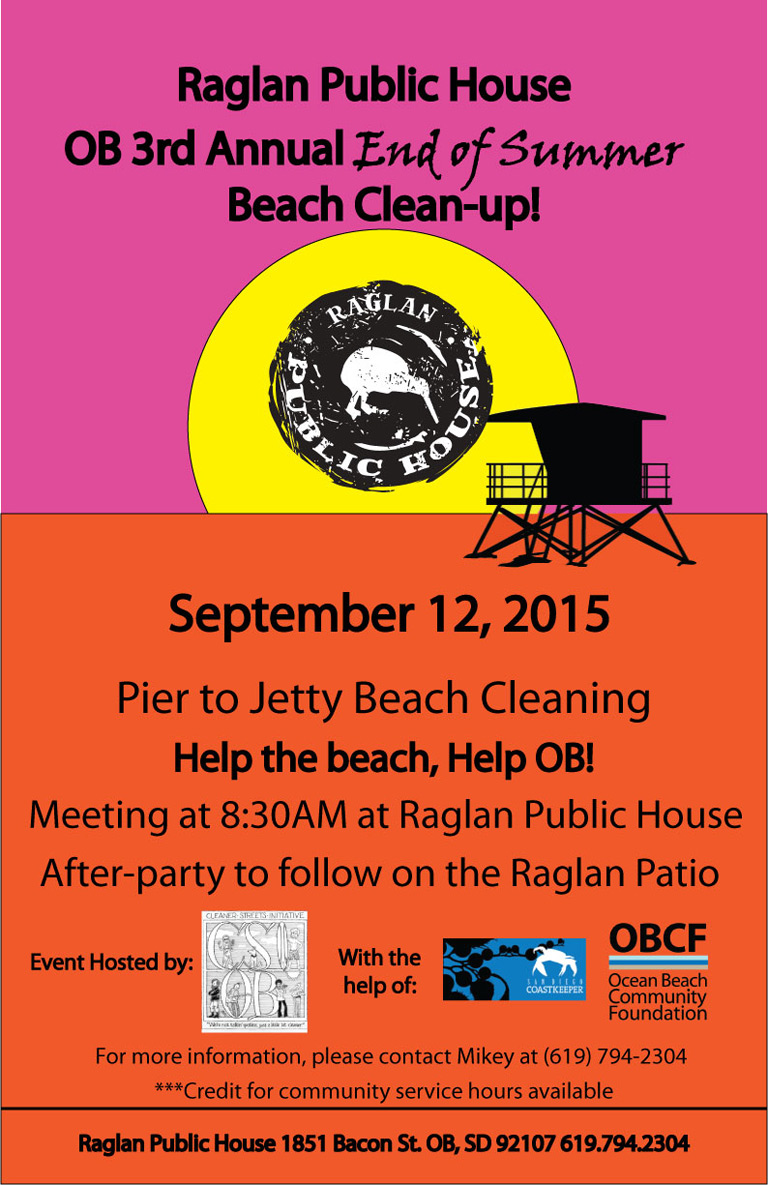 OB 3rd Annual End of Summer Beach Clean-Up with Raglan Public House