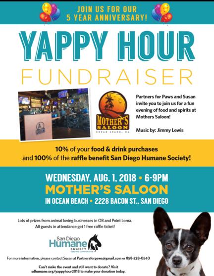 Ocean Beach Yappy Hour Fundraiser