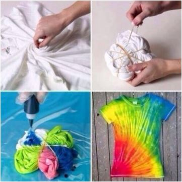 Tie Dye & T-Shirt Cutting at Te Mana Cafe with OB Arts Collective