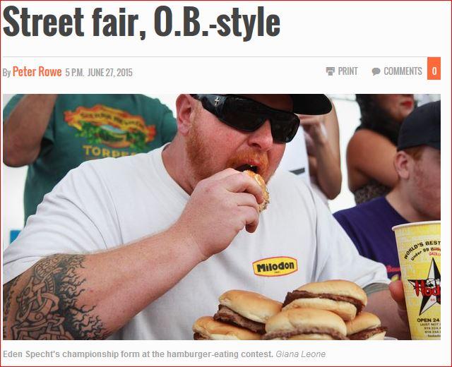 Street fair, O.B.-style - San Diego Union-Tribune article