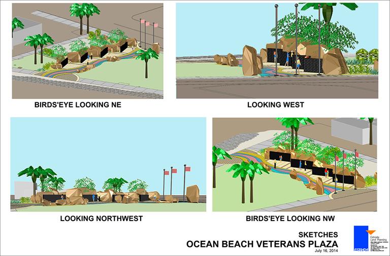 Veterans Plaza Sketches
