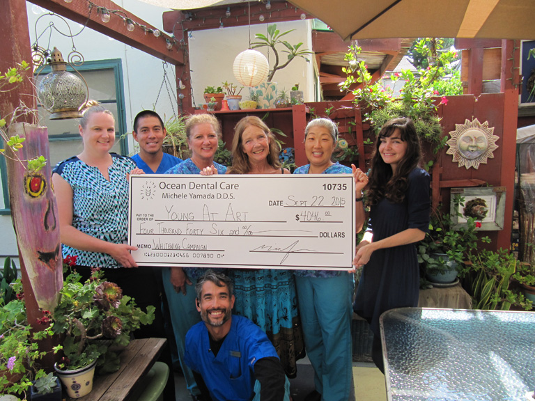 Ocean Dental Care's Smiles for Life Donation to Young at Art