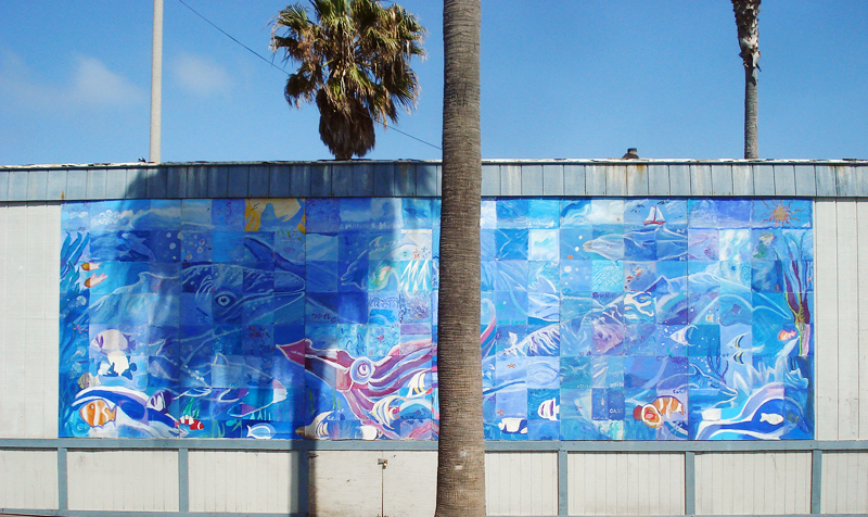 Ocean Beach community mural project.