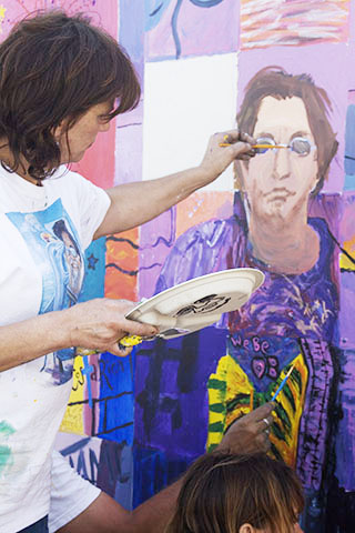 Ocean Beach community mural project.
