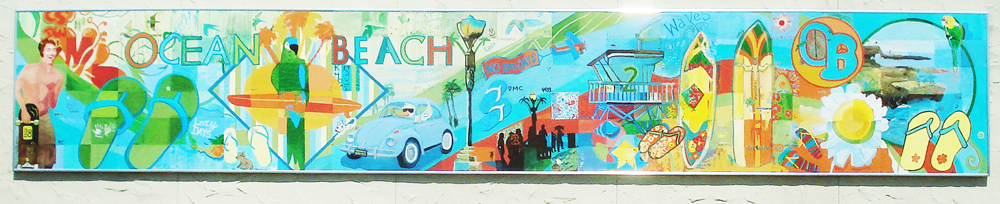 Mural 2010 ocean beach san diego ca for Community mural project