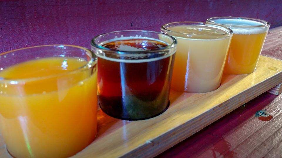 Kilowat Brewery tasters