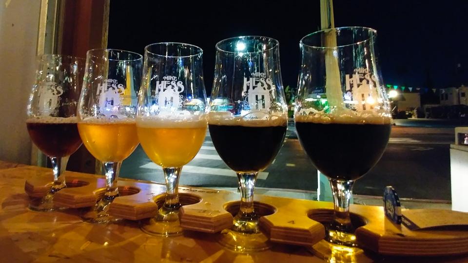 Mike Hess Brewery Tasters