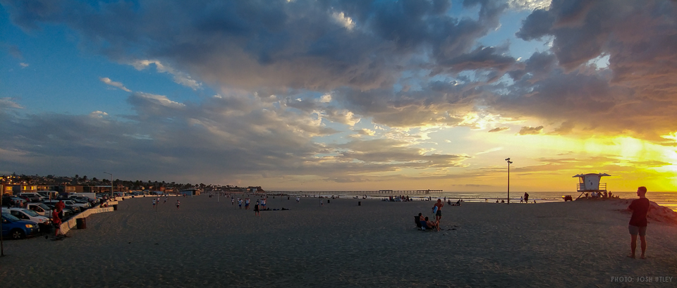 Next to Dog Beach