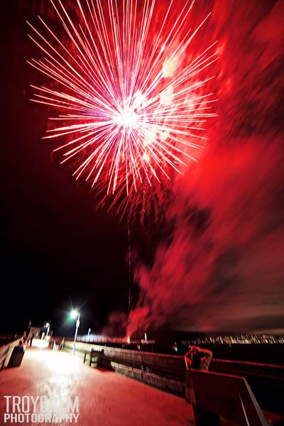 Fireworks off the Ocean Beach Pier