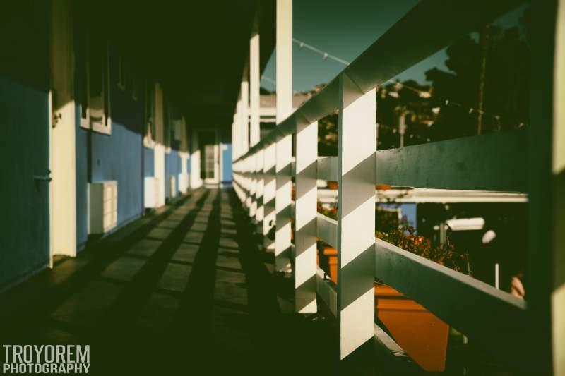 Ocean Villa Motel Walkway