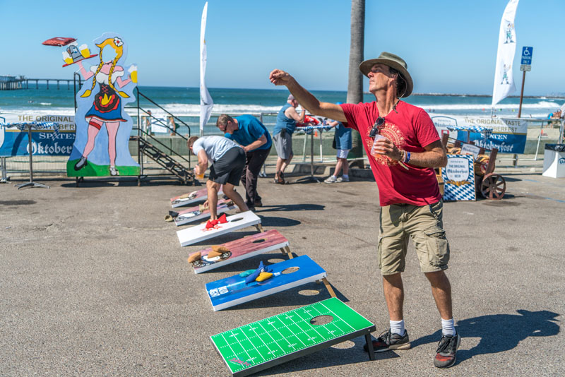 Oktoberfest bean bag toss in Ocean Beach San Diego
