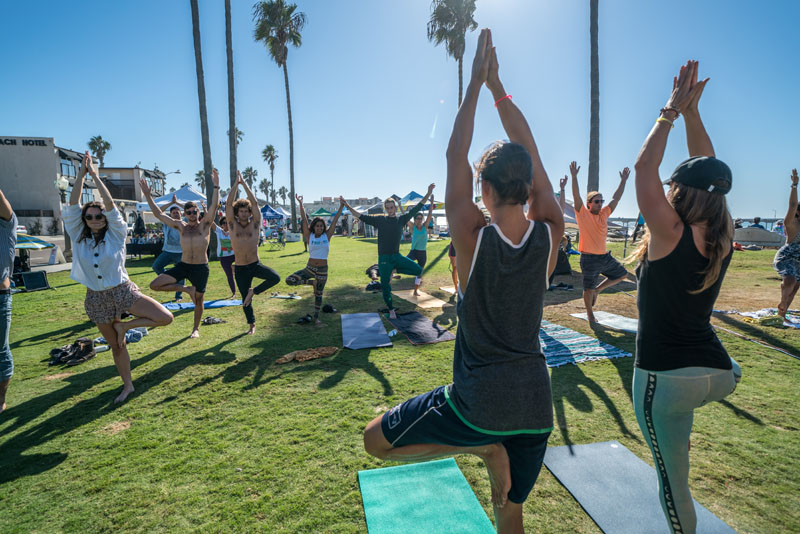 Oktoberfest Oktoberstretch and Hoola-hoop plus yoga in Ocean Beach San Diego