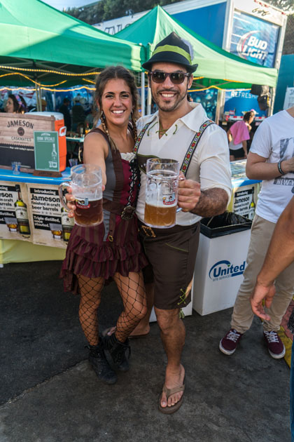 Oktoberfest in Ocean Beach San Diego Contests and Beer Garden in Pier Parkinglot