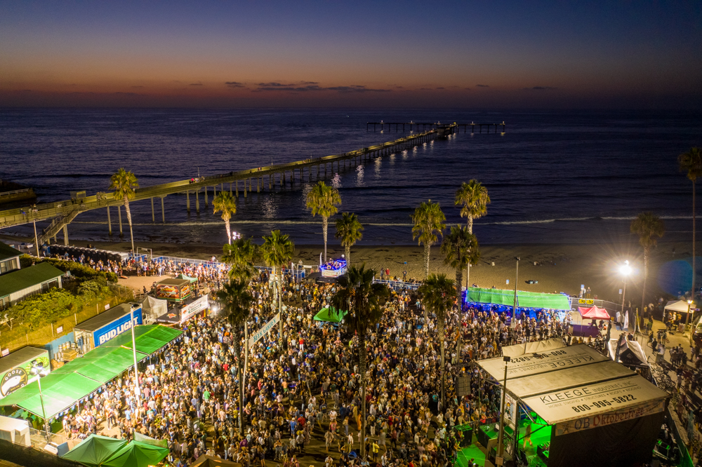 OB Oktoberfest 2019 Main Stage and Beer Garden