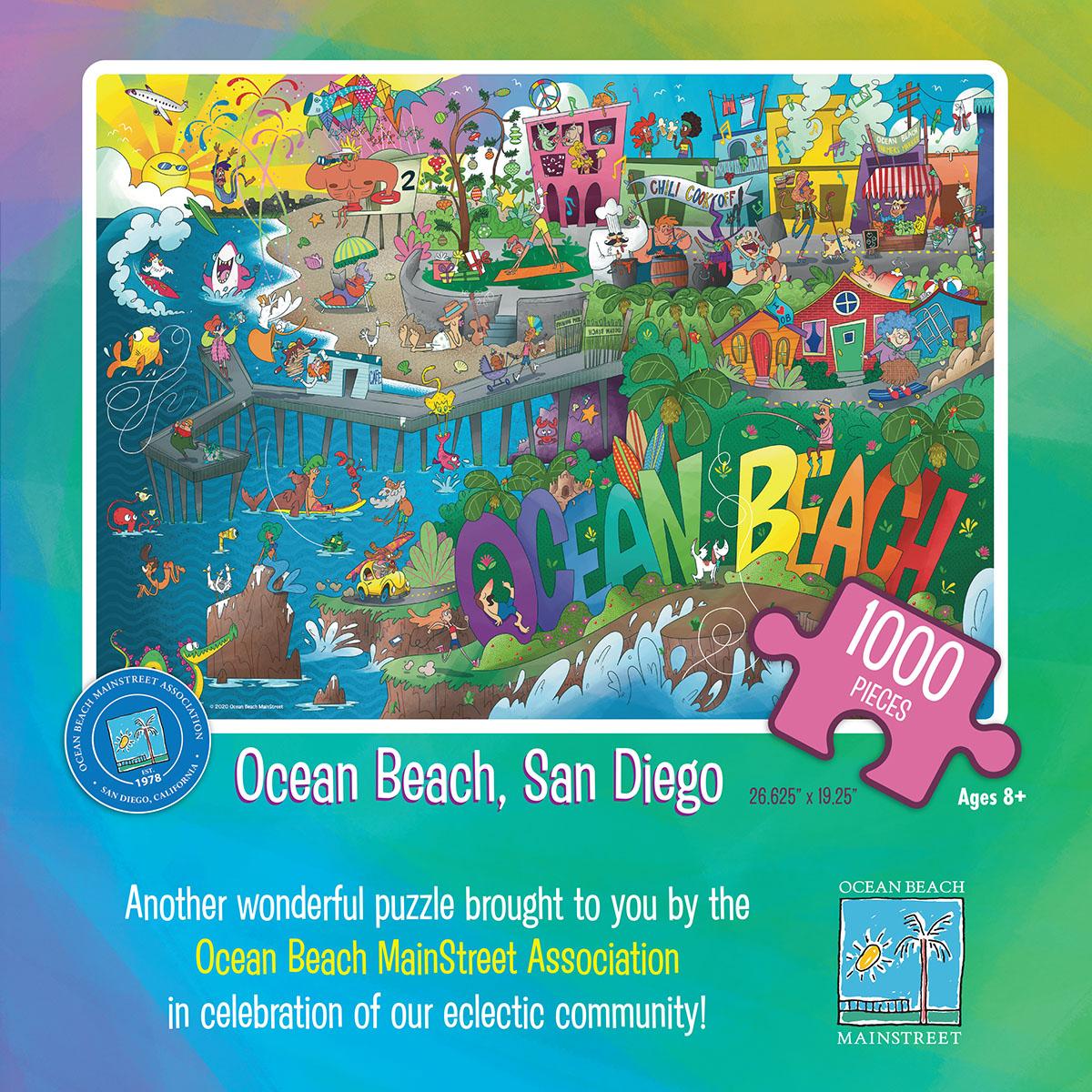 Ocean Beach Product: Puzzle - Ocean Beach, San Diego 2020