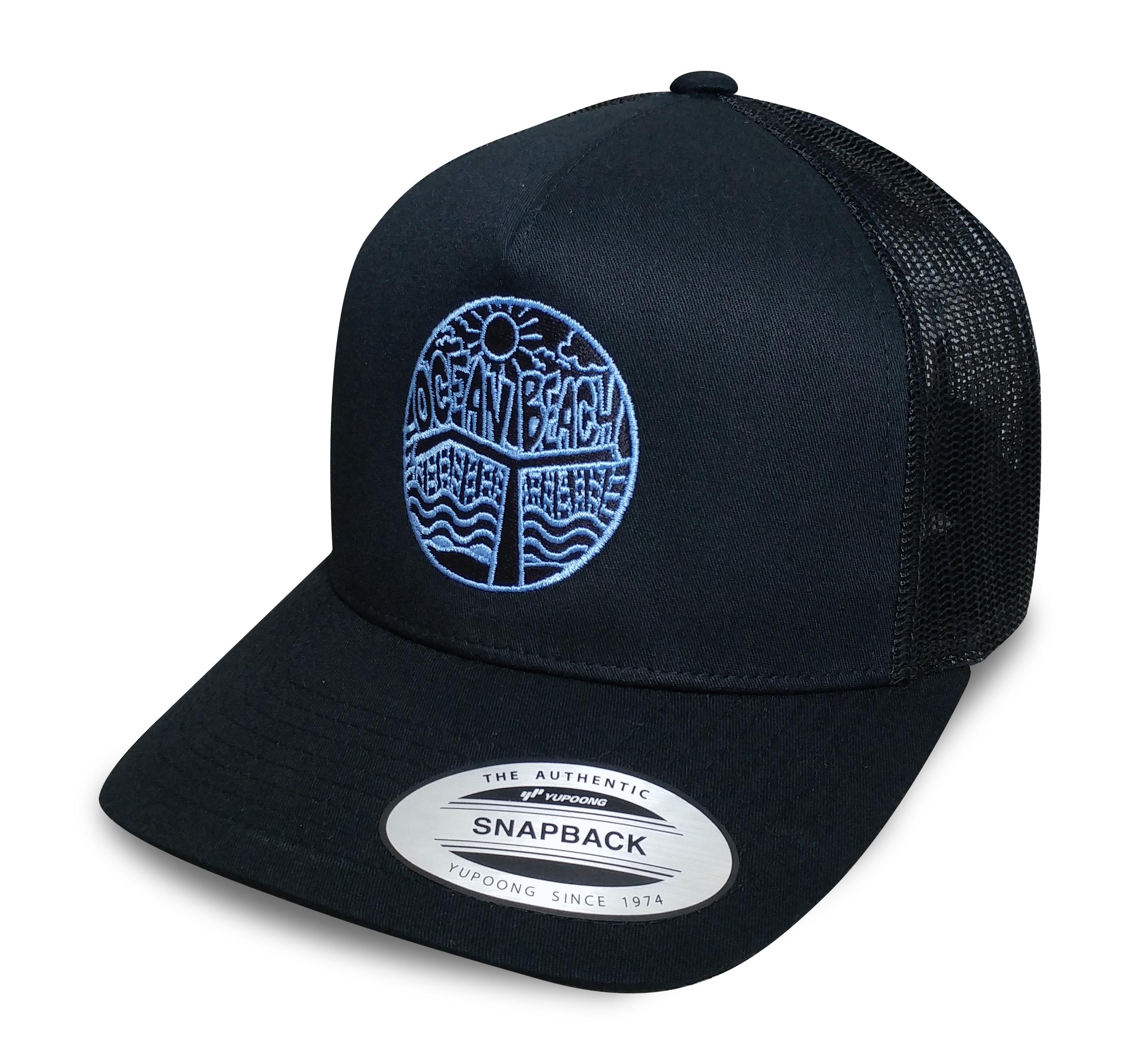 Ocean Beach Product: OB Pier Snapback Hat (blue logo)