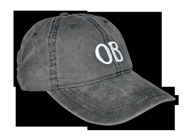 Ocean Beach Product: OB Ballcap, Charcoal Gray