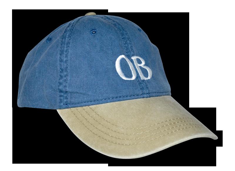Ocean Beach Product: OB Ballcap, Denim and Khaki