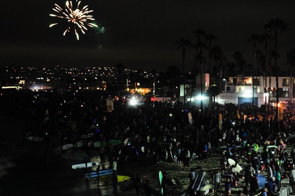 4th Of July Fireworks Ocean Beach San Go California