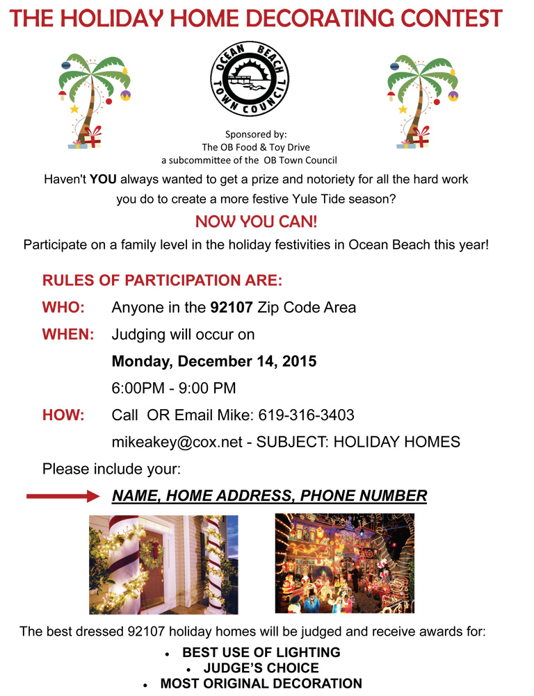 Holiday Homes Decorating Contest