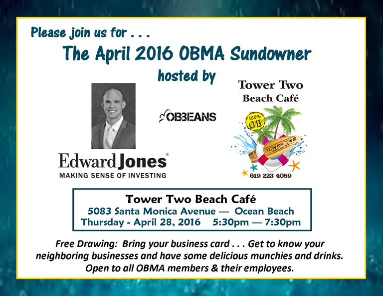 OBMA Sundowner at Tower Two with Edward Jones & OB Beans