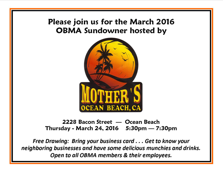 OBMA Member Event: Sundowner at Mother's Saloon