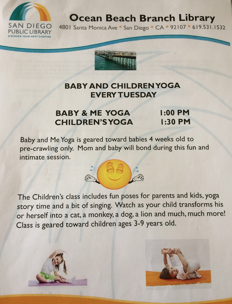 Baby & Me Yoga at OB Library
