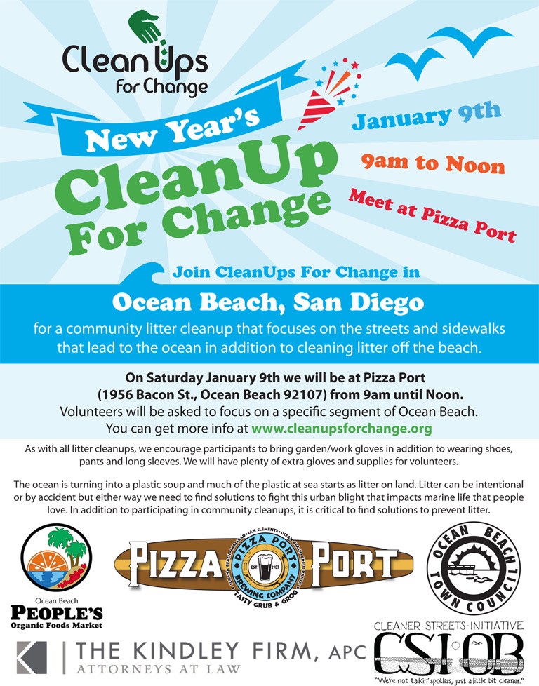 Clean Ups for Change OB Community Clean Up