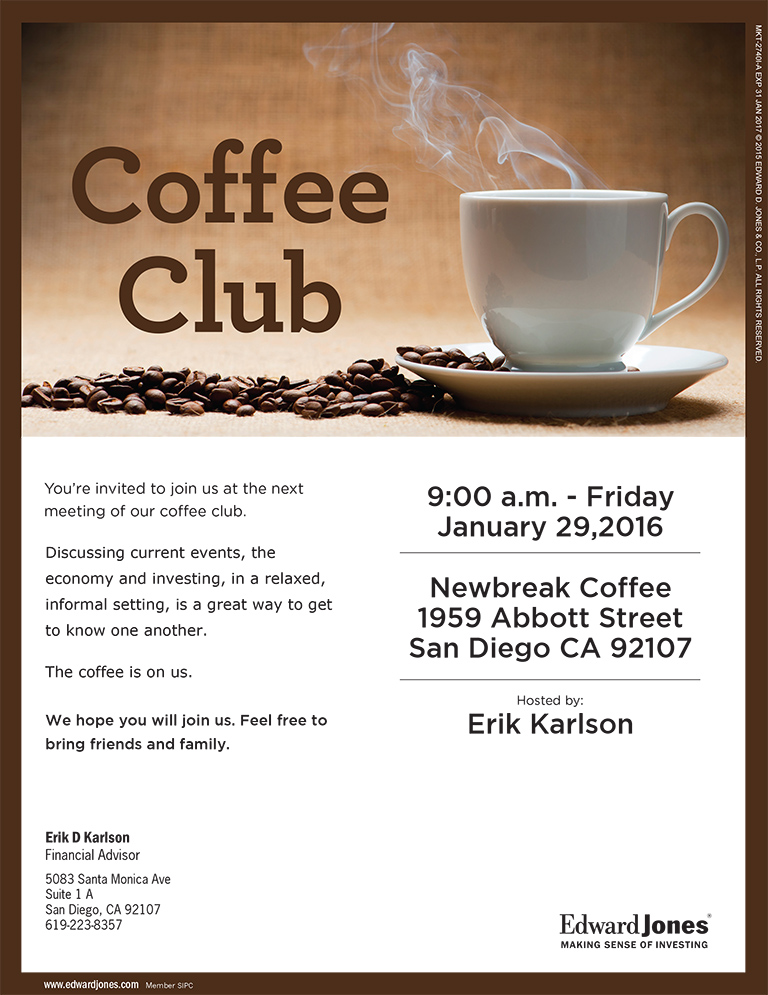 Coffee Club with Edward Jones