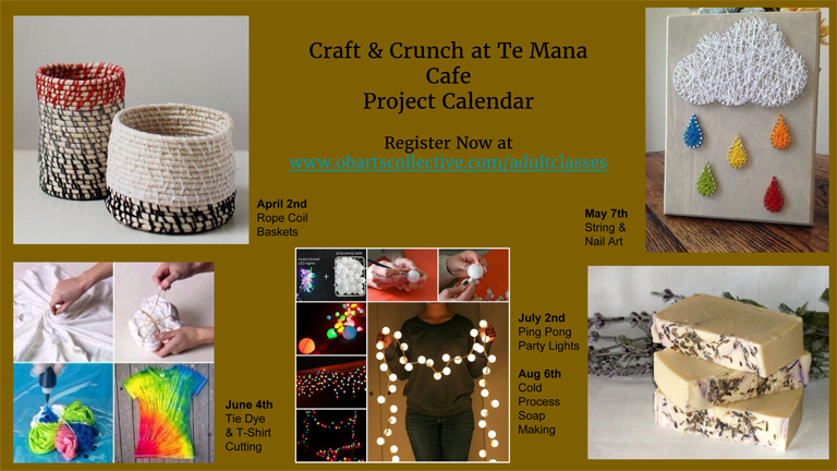 Craft & Crunch Classes with OB Arts Collective