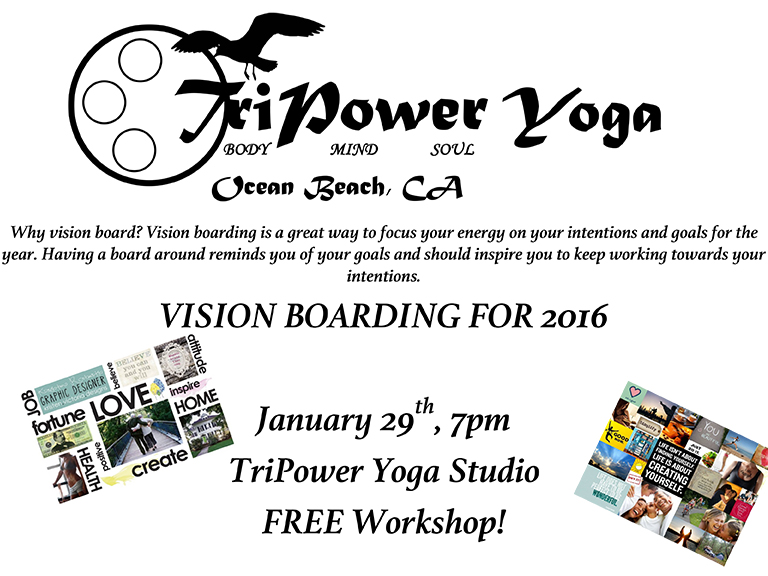 Vision Boarding at TriPower Yoga