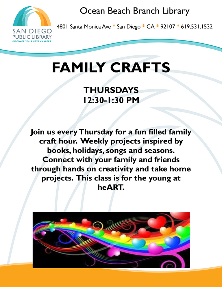 Family Crafts at OB Library
