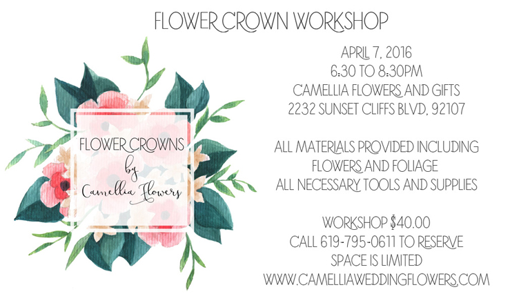 Flower Crown Making Class with Camellia Flowers